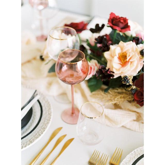 Modern Siren Beverageware Pinot + Gold White Wine - Set of 4 For Sale - Image 3 of 4