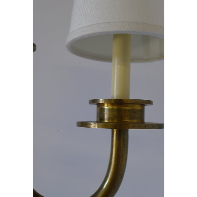 Mid 20th Century Asymmetrical Two-Light Pendant For Sale - Image 4 of 8