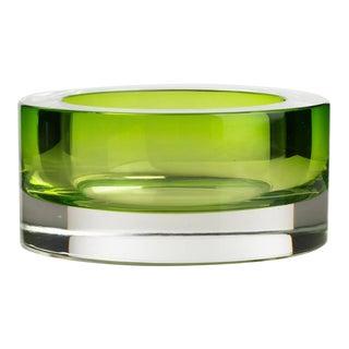 1970s Cenedese Murano Chartreuse Art Glass Bowl Designed by Antonio Da Ros For Sale