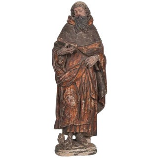 Italian 16th Century Carving of a Male Saint For Sale