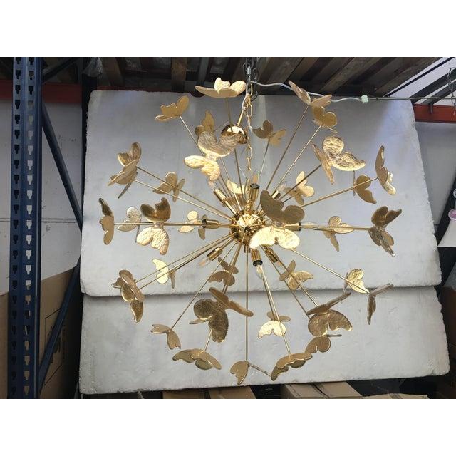 24 Karat Gold Butterfly Sputnik Chandelier For Sale - Image 10 of 10