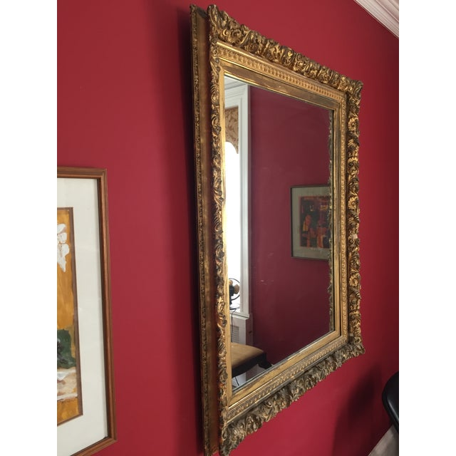 19th Century Grand Carved Gesso Frame Mirror - Image 4 of 5