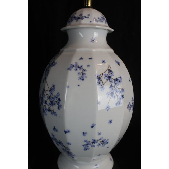 Vintage Chinese Floral Lamp For Sale - Image 9 of 11