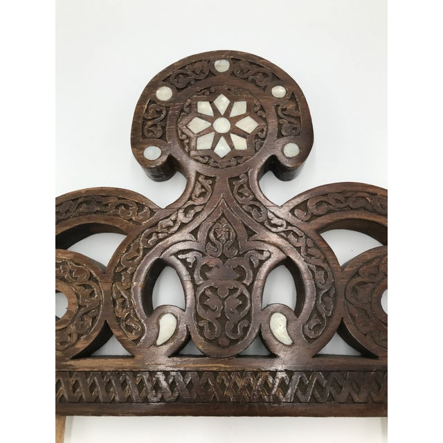 Moroccan Moroccan Wood Decorative Object For Sale - Image 3 of 8