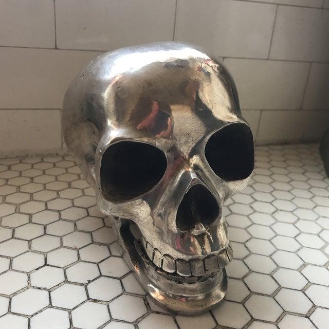 Large Vintage Silver Metal Skull - Image 4 of 11