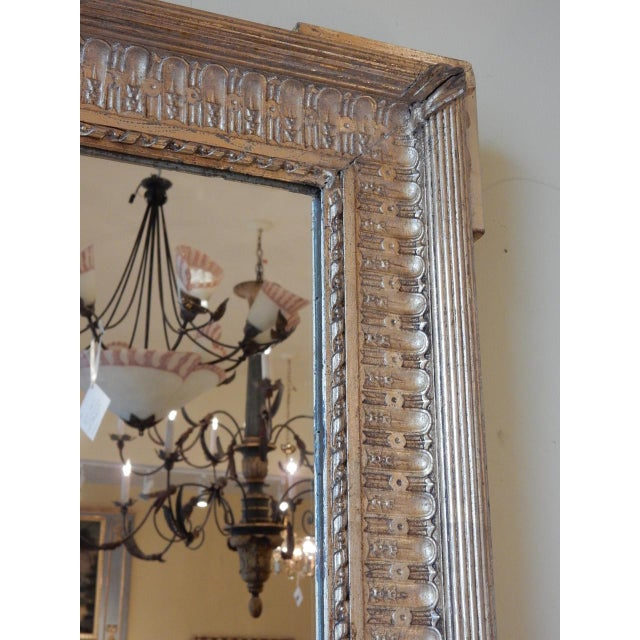 French 19th Century French Gold Gilt Mirror For Sale - Image 3 of 8