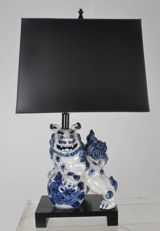 Pair Of Vintage Foo Dog Lamps   Image 2 Of 8