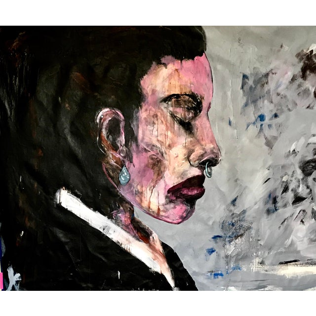 Woman in Profile Contemporary Painting For Sale