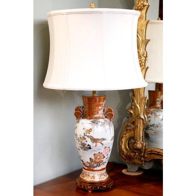 Japanese Satsuma Ware Vase Lamp - Image 2 of 11