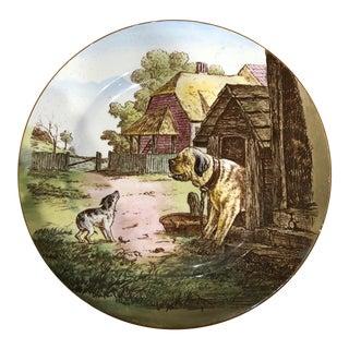 Cauldon English Dog Porcelain Plate For Sale