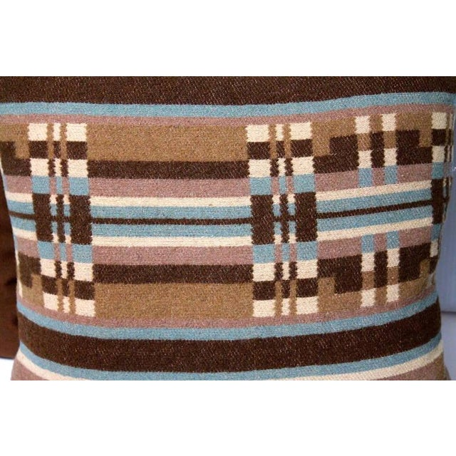 Mid 19th Century Pair of 19th Century Horse Blanket Pillows For Sale - Image 5 of 5