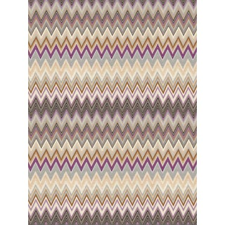 Scalamandre Zig Zags, Plum Wallpaper