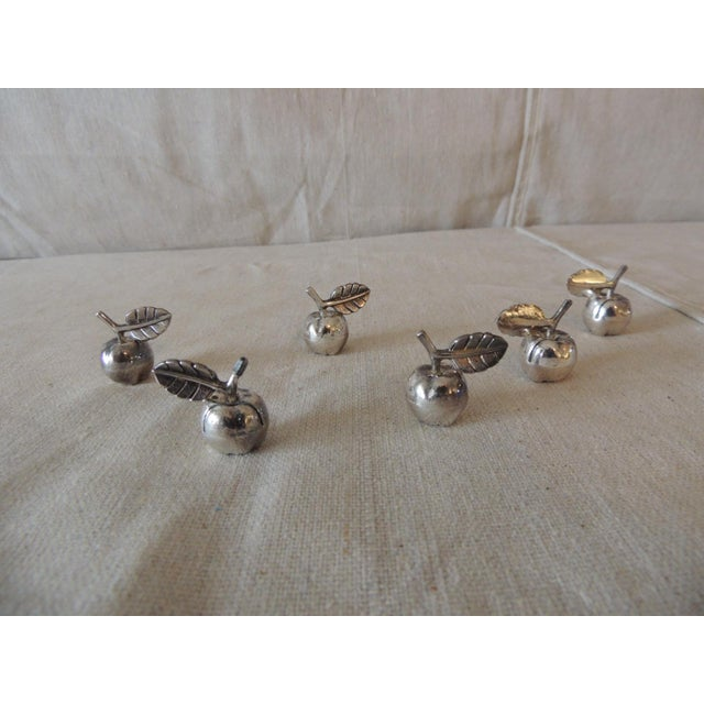 2000 - 2009 Vintage Stainless Steel Dinner Table Place Card Holders For Sale - Image 5 of 5