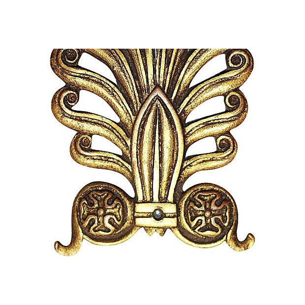 French antique neo-classical style gold plated intricately finished mount to embellish furniture or a wall statement, some...
