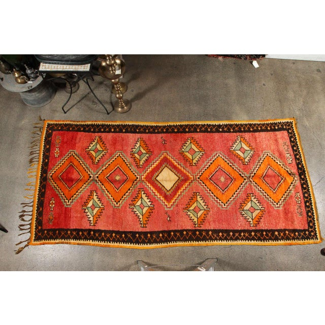 Textile Vintage Moroccan Tribal Rug Runner Matisse Style For Sale - Image 7 of 7