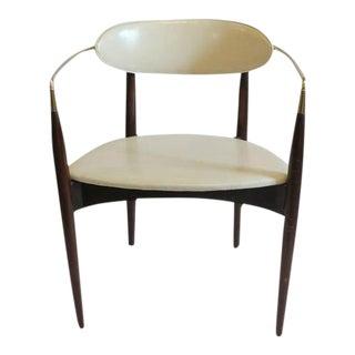 Mid-Century Dan Johnson Leather & Wood Desk Chair