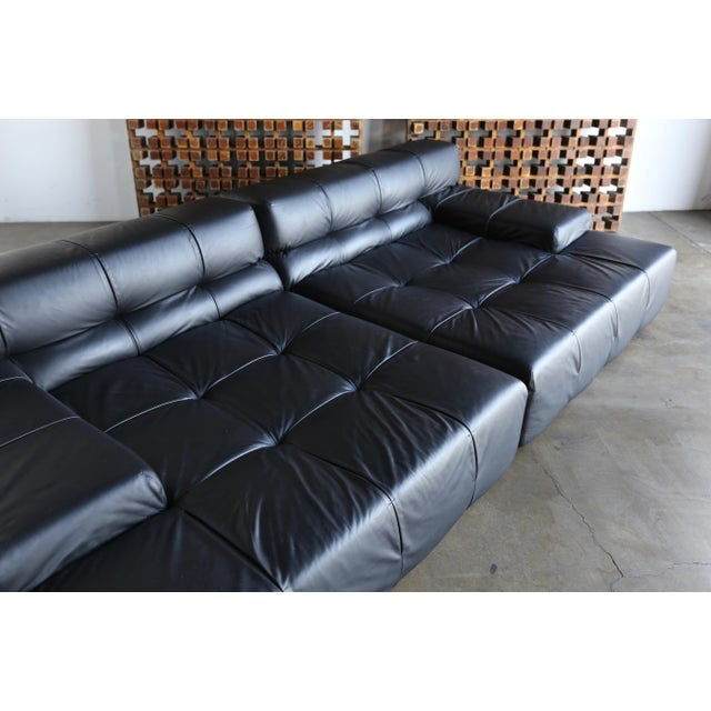 Modern B&b Italia Tufty Time Leather Sofa by Patricia Urquiola For Sale - Image 3 of 10