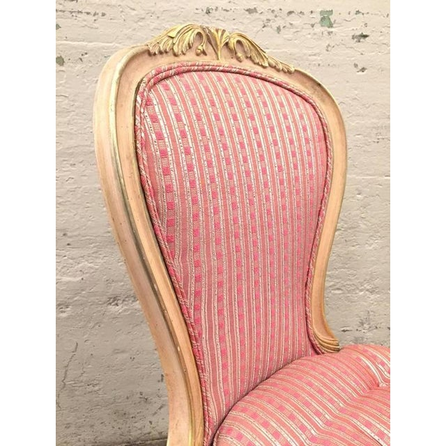 Wood Set of Eight Louis XVI Style Painted Dining Chairs For Sale - Image 7 of 8