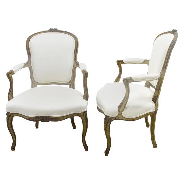 Louis XV Style Fauteuils - A Pair For Sale
