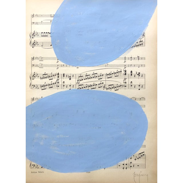 "Abstract ""Blue Symphony"" Modern Painting by Tony Curry For Sale - Image 3 of 3"