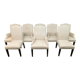 Transitional Restoration Hardware Hudson Dining Chairs - Set of 8 For Sale