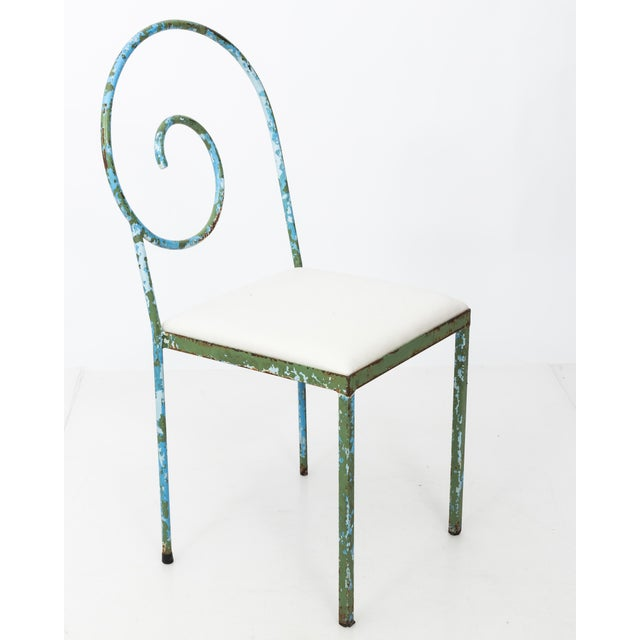 Iron 20th C. Scroll Back Garden Chairs - Set of 4 For Sale - Image 7 of 11