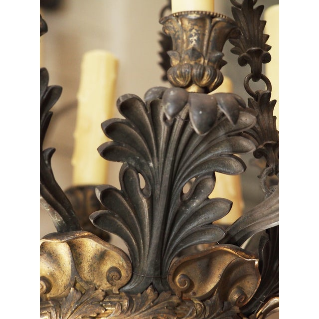 19th Century French Bronze Empire Chandelier - Image 7 of 9
