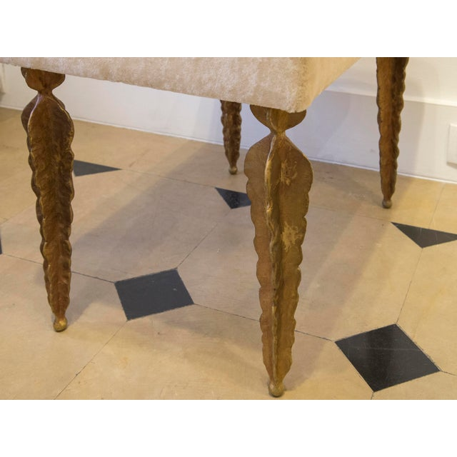 "Marc Bankowsky - Bench With ""Fern"" Feet in Patinated Bronze For Sale - Image 4 of 5"