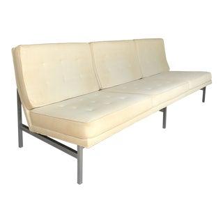 Vintage Florence Knoll Three Seat Armless Sofa For Sale