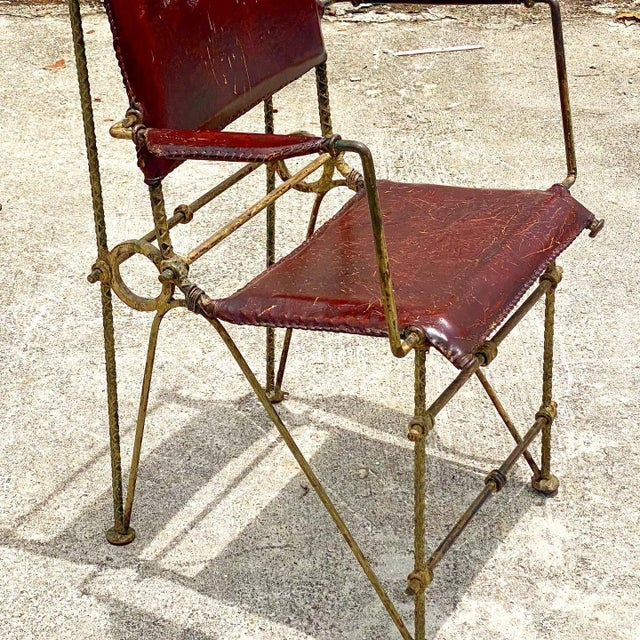 Ilana Goor Vintage Brutalist Sculpted Rebar Dining Chairs in the Manner of Ilana Goor - Set of 6 For Sale - Image 4 of 13