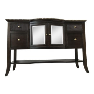 Stanley Furniture Wood & Glass Cabinet Sideboard