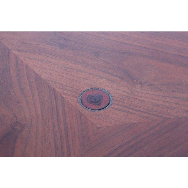 Dunbar Janus Table by Edward Wormley With Natzler Tiles For Sale - Image 10 of 12