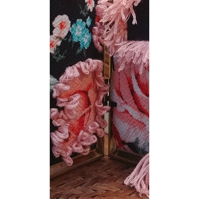 2020s Contemporary Floral Fabric Tapestry in Double Frame For Sale - Image 5 of 7