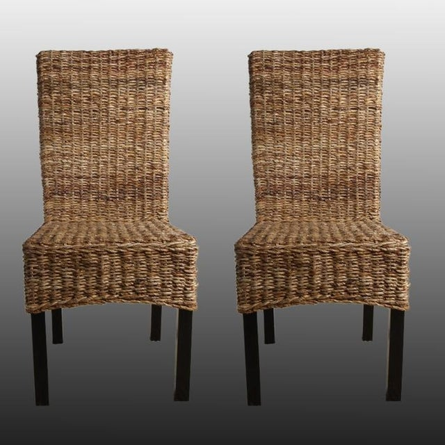 Rattan Dining Chairs - Pair - Image 2 of 8