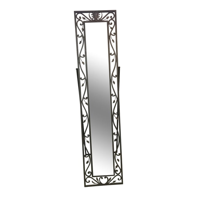 Metal Leaves Design Free Standing Mirror - Image 1 of 6