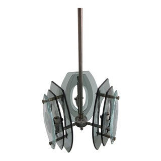 Italian Mid-Century Modern Glass Pendant Attributed to Fontana Arte
