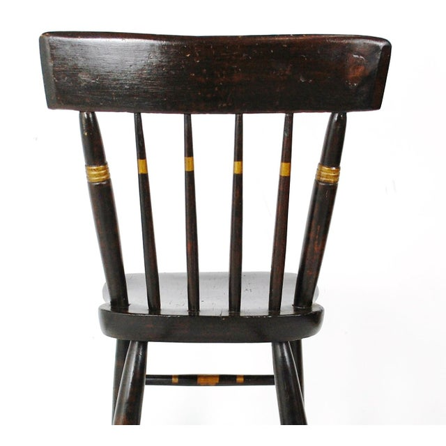 1800s Windsor Style Childs Rocker - Image 10 of 11