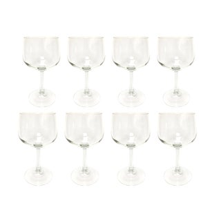 Late 20th Century Vintage Luminarc French Grand Vin Ballon Wine Glasses - Set of 8 For Sale