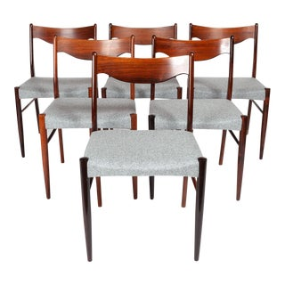 Vintage Danish Modern Rosewood Dinning Chairs- Set of 6 For Sale