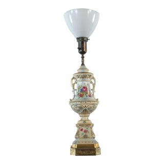 Vintage Porcelain Base Table Lamp For Sale