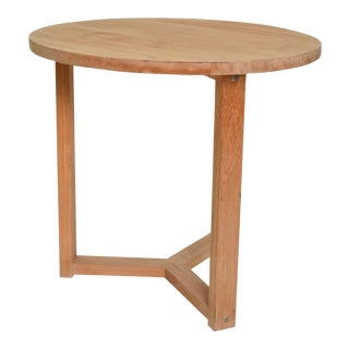 Modern Teak Round Occasional Table For Sale