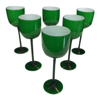 Carlo Moretti Emerald Cased Glasses - Set of 6