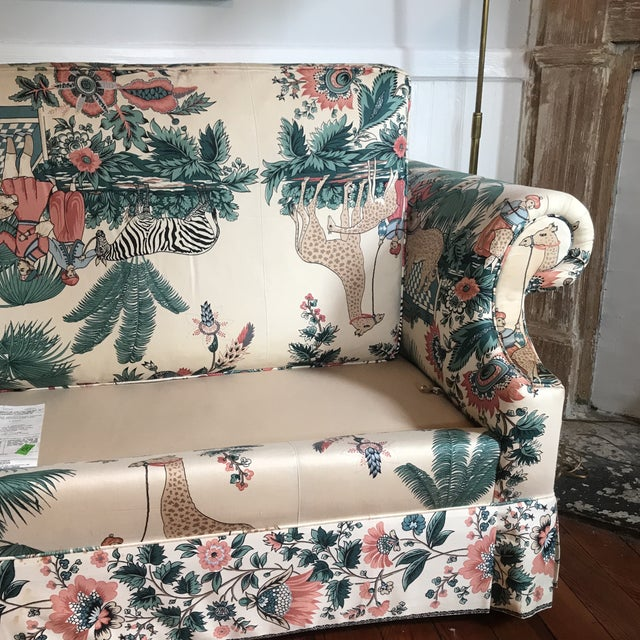 1980s Vintage Pearson British West Indies Jungle Print Sofa For Sale - Image 10 of 13