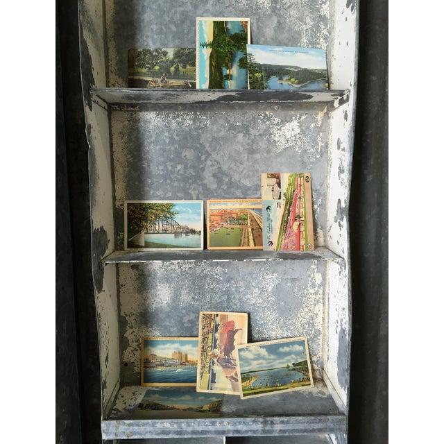 Vintage Large Industrial Metal Storage Shelf Unit - Image 10 of 11