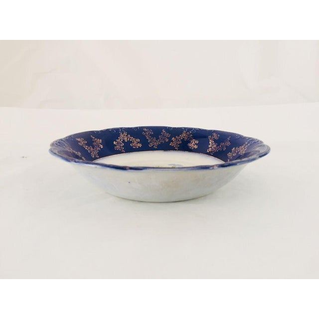 Antique English Wood & Son Porcelain Floral Serving Bowl For Sale - Image 5 of 6