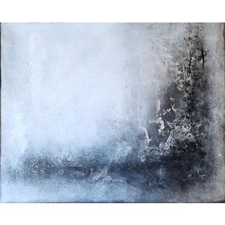 Black & White Textured Modern Abstract Painting