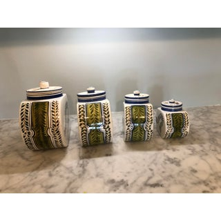 1960s Vintage Hand Painted Italian Majolica Canisters- Set of 4 Preview