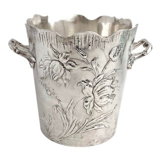 Art Nouveau Silver Champagne Bucket For Sale