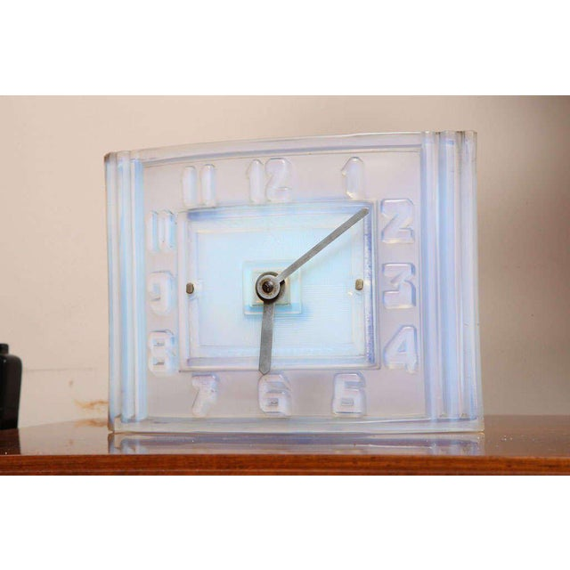 Glass Léon Hatot 'ATO' Opalescent Glass Mantle Clock For Sale - Image 7 of 7
