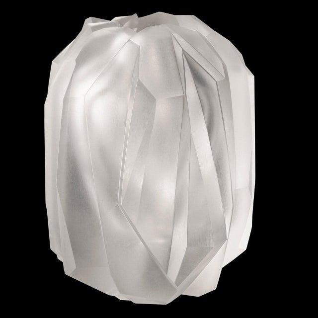 "New, original 2004 design ""Gletscher"" (Glacier) vase inspired by crystals in the Austrian Alps, designed by Sebastian..."